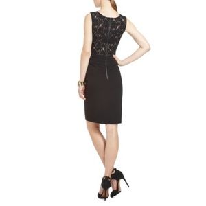 BCBGMAXAZRIA Roya LBD Lace-back Cocktail Dress